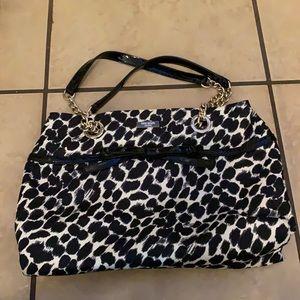 Kate spade black and white animal print bag purse